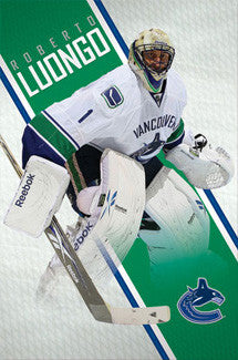 "Roberto Luongo ""Action"" Vancouver Canucks Poster - Costacos Sports 2010"