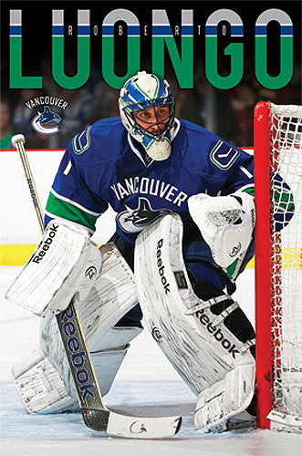 "Roberto Luongo ""Superstar"" Vancouver Canucks Poster - Costacos 2013"