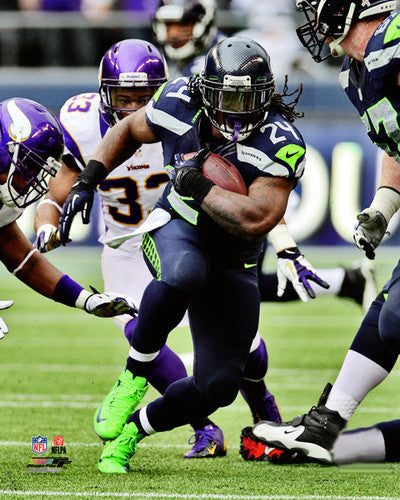 "Marshawn Lynch ""Running Bull"" (2012) Seattle Seahawks Premium Poster - Photofile Inc."