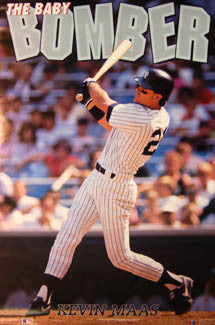 "Kevin Maas ""Baby Bomber"" New York Yankees Poster - Costacos Brothers 1991"