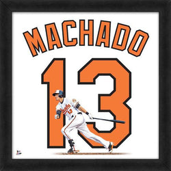 "Manny Machado ""Number 13"" Baltimore Orioles MLB FRAMED 20x20 UNIFRAME PRINT - Photofile"