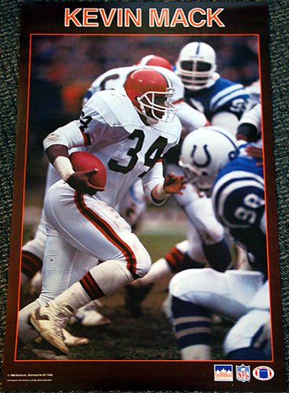 Kevin Mack Cleveland Browns Solid-Border Series NFL Action Poster - Starline 1988