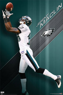 "Jeremy Maclin ""Gone Deep"" Philadelphia Eagles Poster - Costacos Sports"