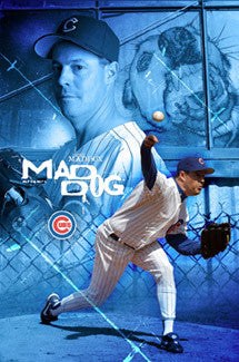 "Greg Maddux ""Mad Dog"" Chicago Cubs Poster - Costacos 2004"