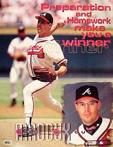 "Greg Maddux ""Winner"" Atlanta Braves Motivational Poster - Photo File 1999"