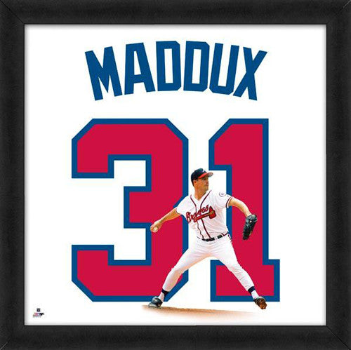 "Greg Maddux ""Number 31"" Atlanta Braves MLB FRAMED 20x20 UNIFRAME PRINT - Photofile"