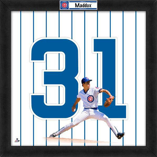 "Greg Maddux ""Number 31"" Chicago Cubs MLB FRAMED 20x20 UNIFRAME PRINT - Photofile"