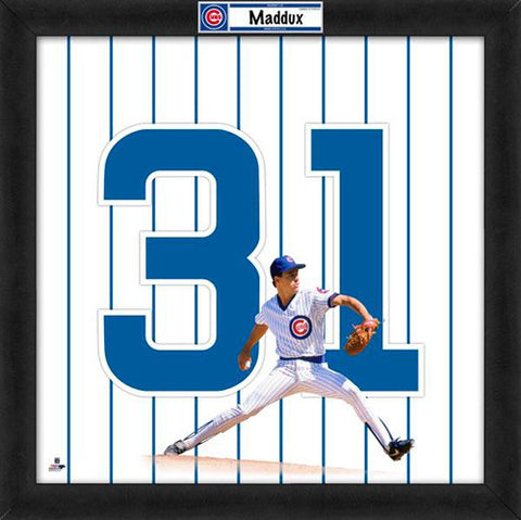Size: 9 x 11 Greg Maddux Chicago Cubs MLB Pro Quotes Photo Framed