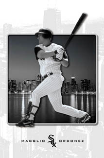 "Magglio Ordonez ""Chicago Classic"" Chicago White Sox Poster - Costacos 2003"