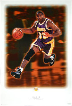 "Magic Johnson ""Dream"" Los Angeles Lakers Poster - Costacos 1996"