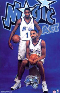 "Orlando Magic ""Magic Act"" Poster (Tracy McGrady and Grant Hill) - Starline 2000"