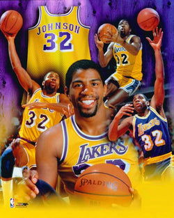 "Magic Johnson ""Legend"" Career Commemorative Premium Poster - Photofile Inc."