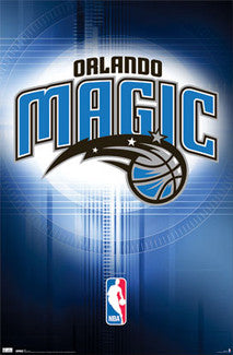 Orlando Magic Official NBA Basketball Team Logo Poster - Costacos Sports