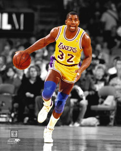 "Magic Johnson ""Spotlight"" (c.1986) L.A. Lakers Premium Poster Print - Photofile Inc."