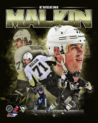 "Evgeni Malkin ""Portrait Plus"" Pittsburgh Penguins Premium Poster Print - Photofile 2013"
