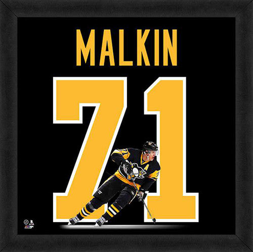 "Evgeni Malkin ""Number 71"" Pittsburgh Penguins FRAMED 20x20 UNIFRAME PRINT - Photofile"