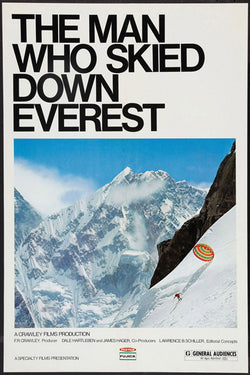 The Man Who Skied Down Everest (1975 Film) Skiing Movie Poster Reproduction - Eurographics Inc.