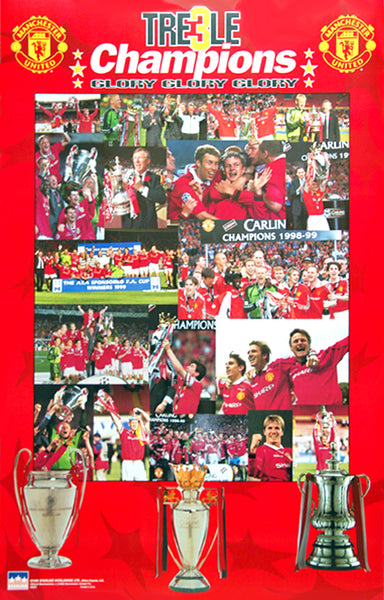 Manchester United Treble Champions 1999 Commemorative Poster - Starline Inc.