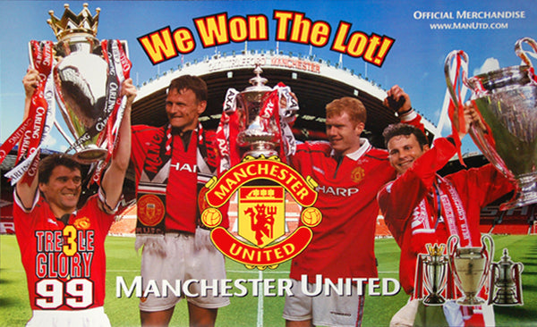 "Manchester United ""We Won The Lot"" Treble Winners 1999 Commemorative Poster - Starline Inc."