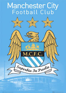 Manchester City FC Official Badge Poster - GB 2005