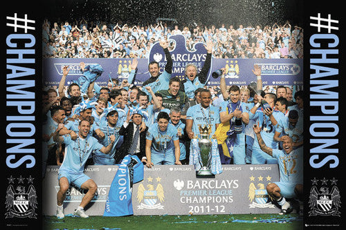 Manchester City Premier League Champions 2011/2012 Commemorative Poster