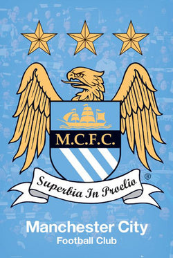 Manchester City FC Official Club Crest Poster - GB Eye (UK)
