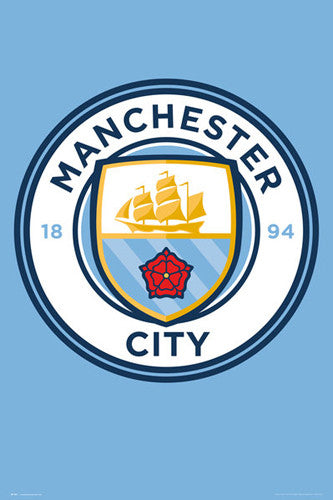 Manchester City FC Club Crest Logo Poster - GB Eye (UK) 2016