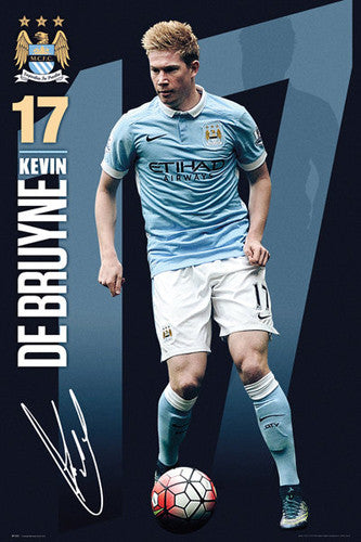 "Kevin De Bruyne ""Signature Series"" Manchester City FC Official EPL Football Poster - GB Eye 2015/16"