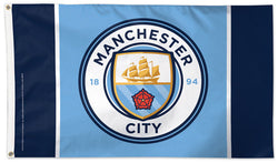 Manchester City FC Official EPL Soccer DELUXE 3'x5' Team Flag - Wincraft Inc.