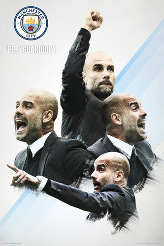 Pep Guardiola Manchester City FC Manager Official EPL Football Poster - GB Eye 2016/17