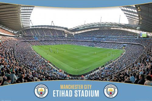 Manchester City FC Etihad Stadium Match Day Poster - GB Eye (UK)