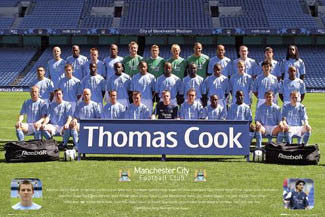 Manchester City FC Official Team Portrait 2005/06 - GB 2005