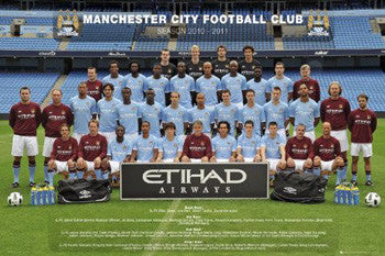 Manchester City FC 2010/11 Official Team Portrait Poster - GB Eye