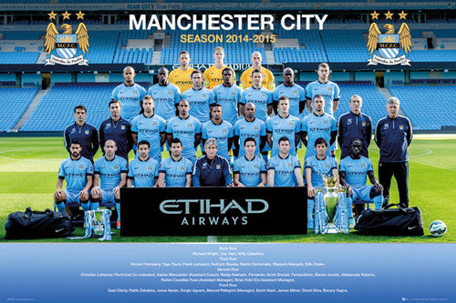 Manchester City FC Official Team Portrait 2014/15 Poster - GB Eye (UK)
