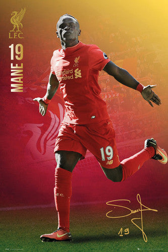 "Sadio Mane ""Signature Series"" Liverpool FC Official EPL Football Poster - GB Eye 2016/17"