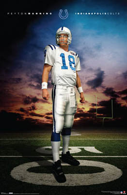 "Peyton Manning ""Hero"" Indianapolis Colts Poster - Costacos 2007"