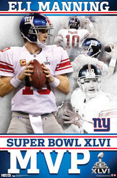 Eli Manning Super Bowl XLVI MVP (2012) New York Giants Poster - Costacos
