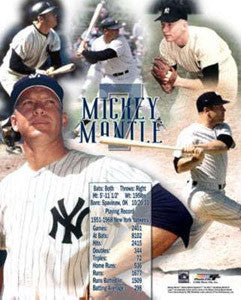 "Mickey Mantle ""#7 Forever"" New York Yankees Premium Poster Print - Photofile Inc."