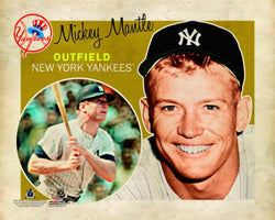 "Mickey Mantle ""Retro SuperCard"" Premium Poster Print - Photofile 16x20"