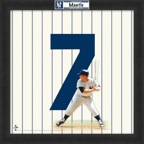 "Mickey Mantle ""Number 7"" New York Yankees MLB FRAMED 20x20 UNIFRAME PRINT - Photofile"