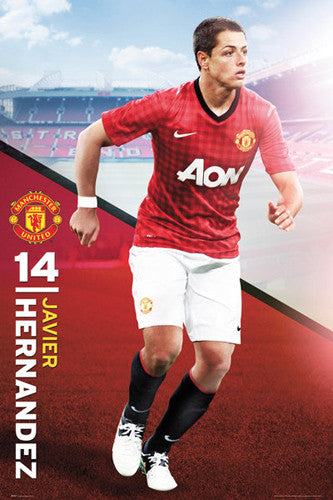 "Javier Hernandez ""Chicharito Action"" Manchester United Poster - GB Eye (UK) 2012"