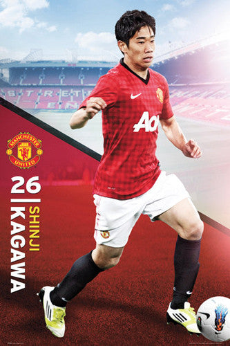 "Shinji Kagawa ""Action"" Manchester United Poster - GB Eye (UK) 2012"