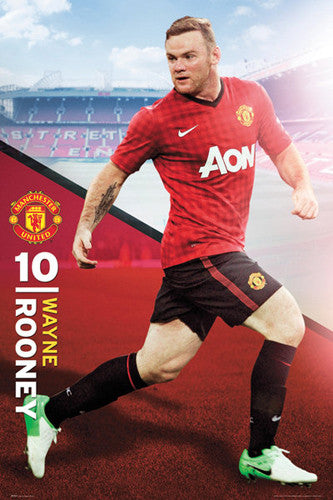 "Wayne Rooney ""Action"" Manchester United Poster - GB Eye (UK) 2012"