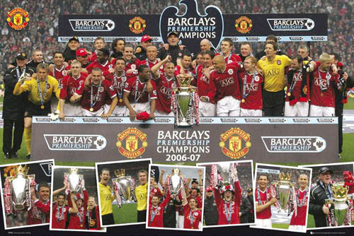 Manchester United Premiership Championship Celebration Poster (May 13, 2007) - GB Posters