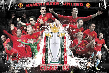 Manchester United 2008 English Premier League Champions Commemorative Poster - GB Posters