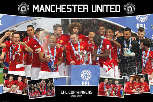 Manchester United 2017 EFL Cup Championship Celebration Commemorative Poster - GB Eye