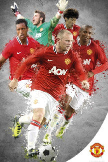 "Manchester United ""Super Five"" (2011/12) Poster (De Gea, Rooney, Evra, Park, Nani) - GB Eye"