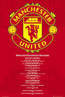 "Manchester United ""Honours"" Crest & History - GB Eye Inc."