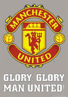 "Manchester United FC ""Glory, Glory"" Official EPL Logo Crest Poster - GB Eye (UK)"
