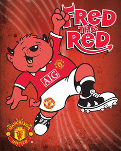 "Manchester United ""Fred the Red"" Mascot Poster - GB Eye 16x20"